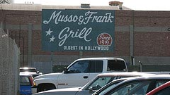 Musso & Frank Grill, rear parking lot